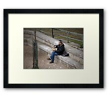 Waiting for a rendezvous Framed Print