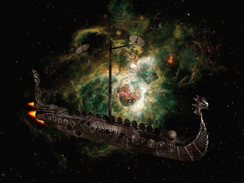 Viking ship by sky   princess