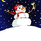 snowman celebration by Michael Scholl