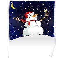 snowman celebration Poster
