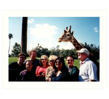 Giraffe and group Art Print