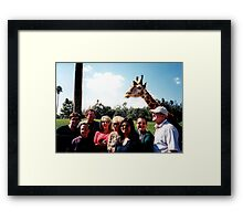 Giraffe and group Framed Print