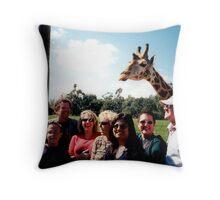 Giraffe and group Throw Pillow