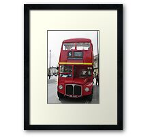 Route master red London bus. Framed Print