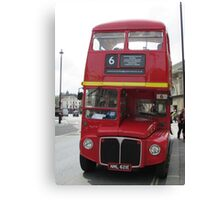 Route master red London bus. Canvas Print
