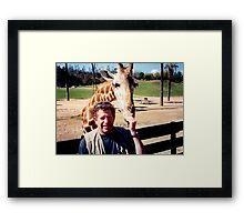 giraffe and me Framed Print