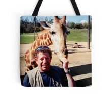 giraffe and me Tote Bag