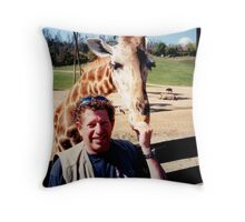 giraffe and me Throw Pillow