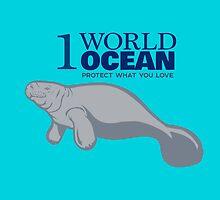 1 World Ocean - Manatee by PepomintNarwhal