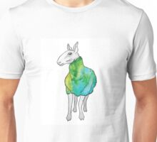Psychedelic sheep: Blue Faced Leicester, teal/green Unisex T-Shirt
