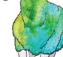 Psychedelic sheep: Blue Faced Leicester, teal/green Sticker
