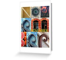 November Greeting Card