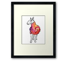 Psychedelic sheep: Blue Faced Leicester, red/violet Framed Print