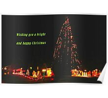 Wishing you a Bright and Happy Christmas Poster