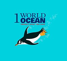 1 World Ocean - Gentoo Penguin by PepomintNarwhal