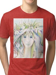 """""""APRIL"""" from """"Calender Sheets"""" Tri-blend T-Shirt"""