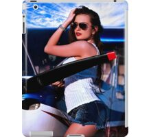 Fashion Girl and Airplane Fine Art Print iPad Case/Skin
