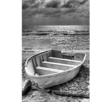 boat on beach Photographic Print