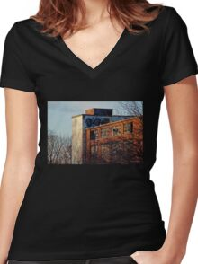 Shadows and Shapes Women's Fitted V-Neck T-Shirt