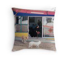 Mexico dogs Throw Pillow