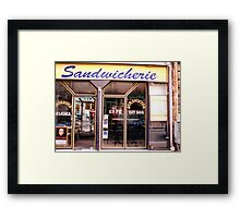Paris sandwich shop Framed Print