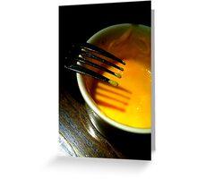 Fork with custard Greeting Card