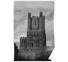 Ely Cathedral Tower B&W Poster