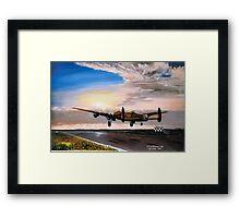 Lancaster evening takeoff  Framed Print