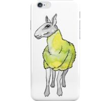 Psychedelic sheep: Blue Faced Leicester, yellow/green iPhone Case/Skin