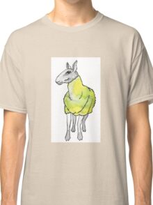 Psychedelic sheep: Blue Faced Leicester, yellow/green Classic T-Shirt