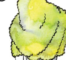 Psychedelic sheep: Blue Faced Leicester, yellow/green Sticker