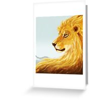 Aslan Revisited Greeting Card