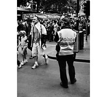 Police Watch Photographic Print
