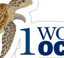 1 World Ocean - Hawksbill Sea Turtle Sticker