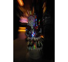 Warp speed for Santa Photographic Print