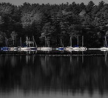 Boats on a Lake by PGornell