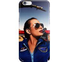 Fashion Pilot Girl Fine Art Print iPhone Case/Skin