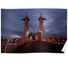 Lowry Bridge, Salford Quays, Manchester Poster