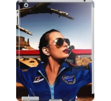 Fashion Pilot Girl Fine Art Print iPad Case/Skin