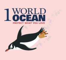 1 World Ocean - Gentoo Penguin Kids Clothes