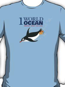 1 World Ocean - Gentoo Penguin T-Shirt