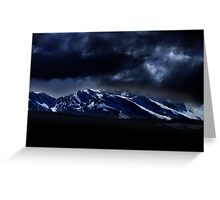 Mountains and moonlight Greeting Card
