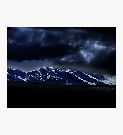 Mountains and moonlight Photographic Print
