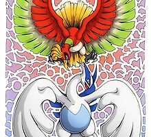 Ho-oh! Lugia! by PhaseChan