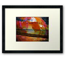Beach and Rose. Framed Print