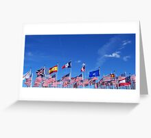 Flying Flags Greeting Card