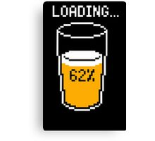 Funny 8 bit beer loading mouse pad geek funny nerd Canvas Print