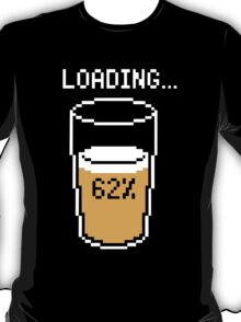 Funny 8 bit beer loading mouse pad geek funny nerd T-Shirt