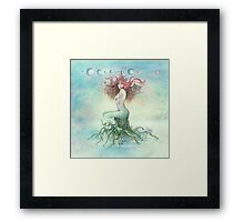 """DECEMBER"" from the series ""Calender Sheets"" Framed Print"