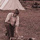 Campfire sepia by Larry  Grayam